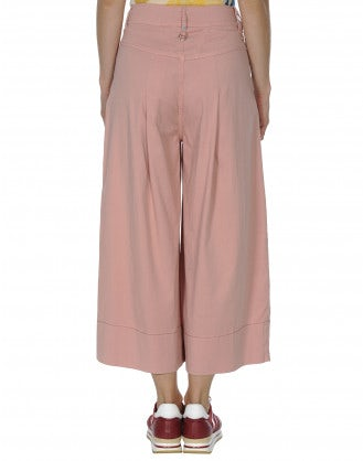 POETRY: Wide single pleat pant in pink