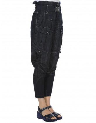 EXPLORE: Pantaloni blu scuro con tasche multiple