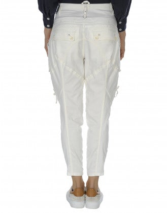 CAPER: Bellows pockets tapered pants