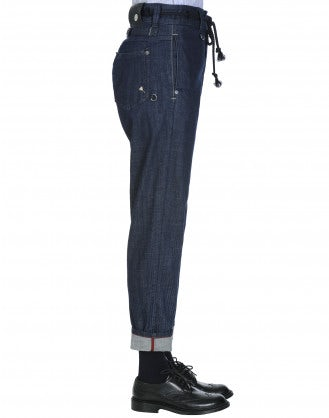 CIRCUIT: Tapered leg jean with button fly in transient wash