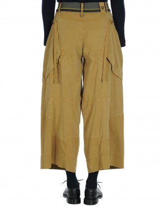 SAUNTER: Multi seam patchwork panel pants
