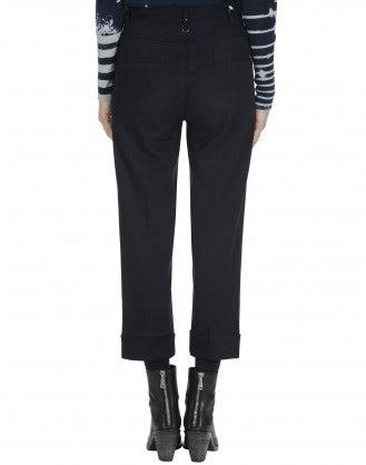 CHROMA: Pantaloni a gamba dritta con apertura laterale