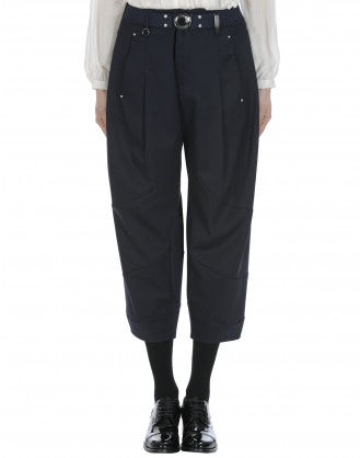 BRIGAND: Cropped navy pants