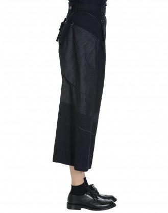 SAUNTER: Pantalone effetto patchwork con cuciture multiple