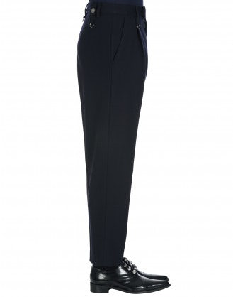 BRISK: Straight leg pant in navy wool