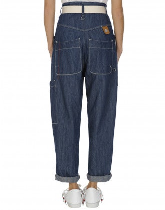 WONDER: Multi-pocket baggy jeans