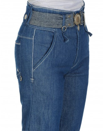 """ALERT: Clean"""" jeans with wide turn-up"""