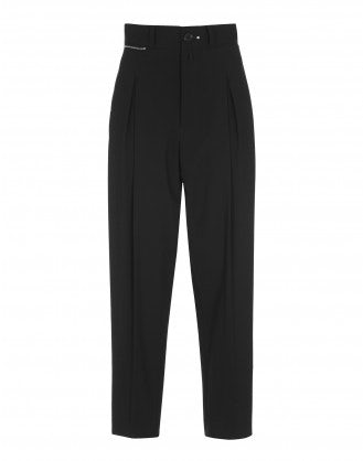 FINERY: Black pant with floating side panel