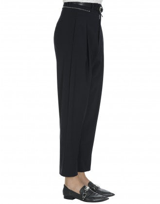 FINERY: Navy pant with floating side panel