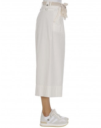 ADEPT: Cream wide leg pants