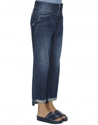 BRIBE: Straight leg cropped jeans