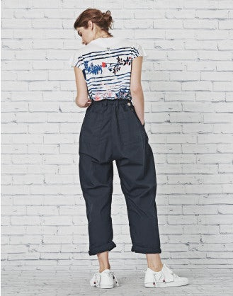 IMPEL: Double layer navy poplin pants