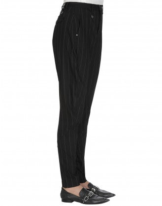 DEMAND: Narrow pant in pinstripe