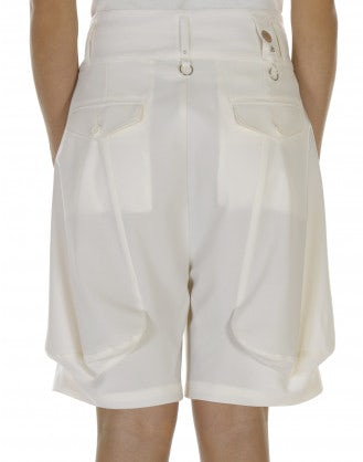LET GO: Cream 4 pleats shorts