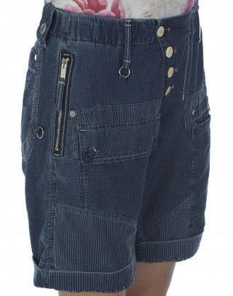 "KNEES-UP: ""Indigo wash"" stitch-in-time shorts"