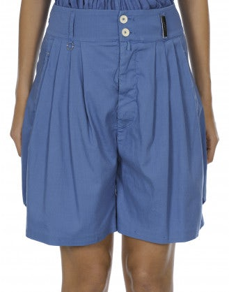 LARK: Sky 4 pleats shorts