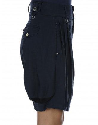 LARK: Navy 4 pleats shorts