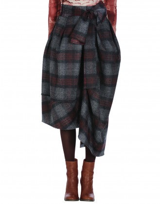 BLUSTERY: Wrap and tie asymmetric pants -skirt