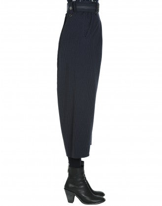 DIETRICH: Pinstripe jersey pant with dropped inseam