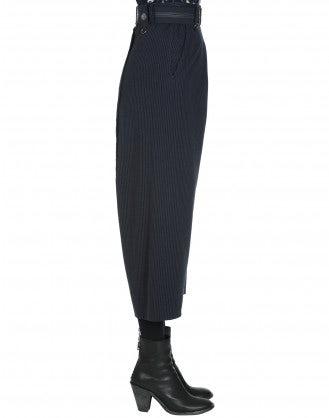 DIETRICH: Pantaloni in jersey gessato con cavallo basso