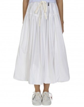 MAYHEM: Full white poplin skirt