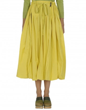 MAYHEM: Full yellow poplin skirt