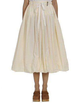 MAYHEM: Full cream poplin skirt