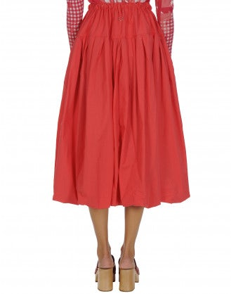MAYHEM: Full red poplin skirt