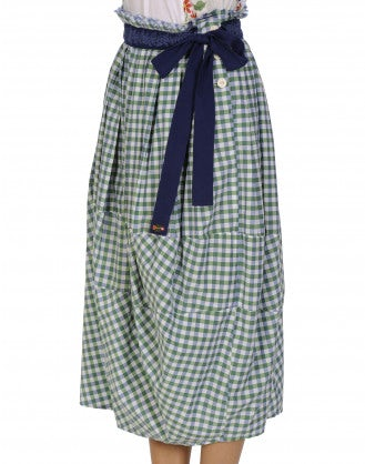 REFINE: Green gingham skirt