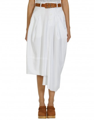 JAUNTY: Skirt-pant in white jersey