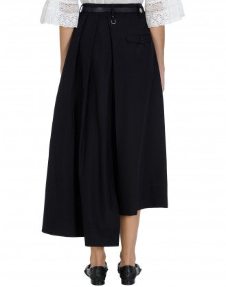 ELITE: Navy Asymmetric hem skirt