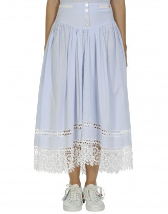 GRATITUDE: Lace hem full skirt