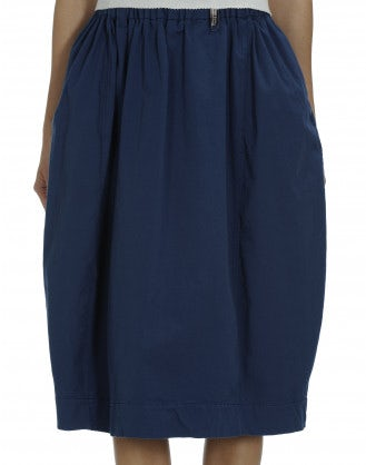 FERVOUR: Cobalt cotton drill skirt