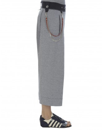 SALTIE: Relaxed stripe cropped skirt-pants