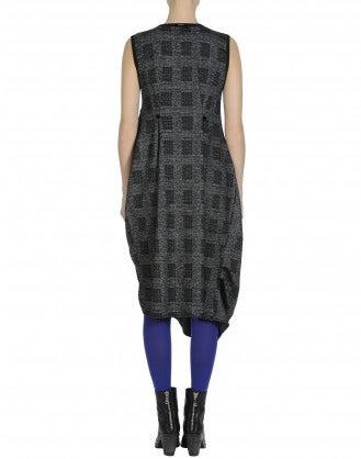 LISSOM: Check and polka dot sleeveless jersey dress