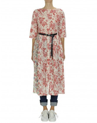 LOVABLE: Duo floral print dress with gathered sides