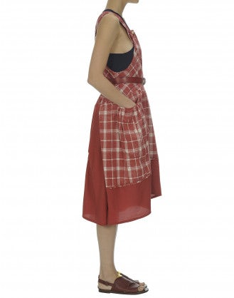 SMITTEN: Prairie check pinafore dress