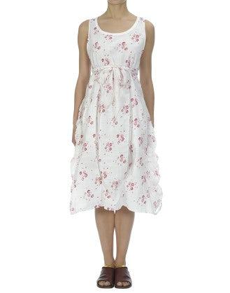 FIESTA: Calypso rose print cotton godet dress
