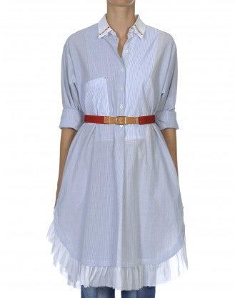 WONDROUS: Abito camicia a righe bianche e blu
