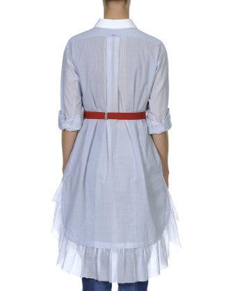 WONDROUS: Blue and white stripe shirt dress