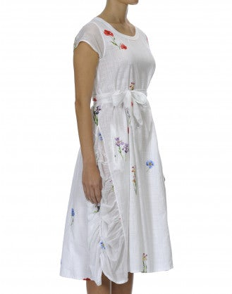 FIESTA: White hand-painted shift dress