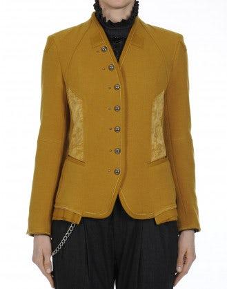 EYRE: Giacca in jersey di lana color zafferano