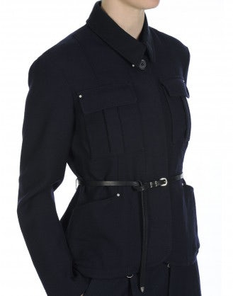 "GETAWAY: Navy blue ""uniform"" style jacket"