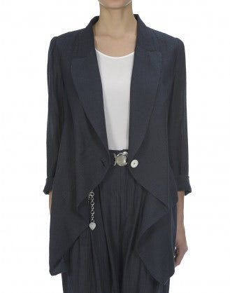 SWANKO: Giacca leggera con drappeggio frontale