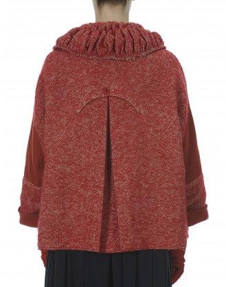 OPERETTA: Red cape sleeve jacket
