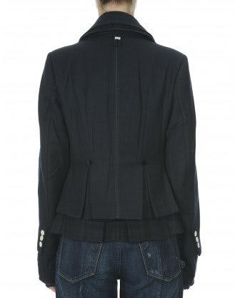 MARINER: Double layer drape navy jacket