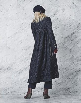 REHEARSAL: Cappotto lungo in jersey con collo in piedi
