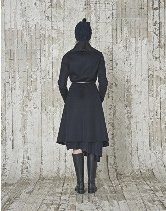 SOPHIST: Black and navy coat