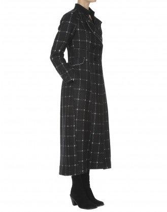 ALBANY: Cappotto invernale in jersey quadrettato