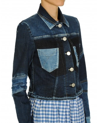 BRAVADO: Multi panel, multi shade denim jacket